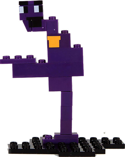 McFarlane Toys Five Nights at Freddy's 8-Bit Series 1 Purple Guy Buildable Figure #12045 [Golden Freddy Piece!]
