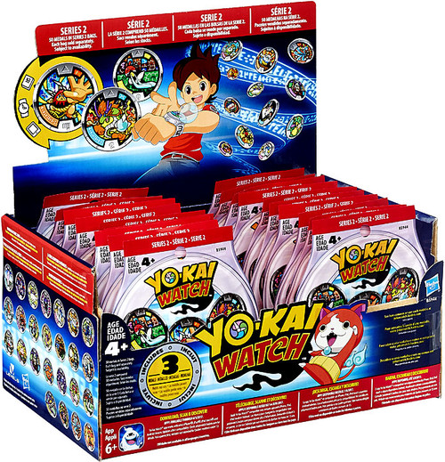 Yo-Kai Watch Series 2 YOKAI MEDALS Mystery Box [24 Packs]