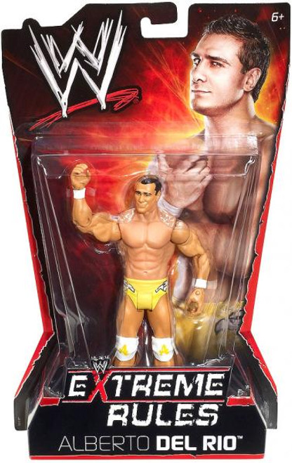 WWE Wrestling Extreme Rules Alberto Del Rio Action Figure [Damaged Package]