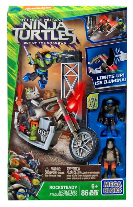 Mega Bloks Teenage Mutant Ninja Turtles Out of the Shadows Rocksteady Moto Attack Set #31589