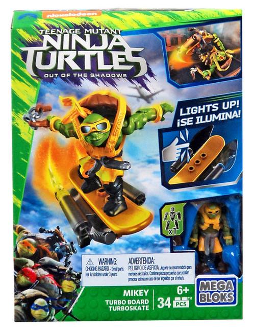 Mega Bloks Teenage Mutant Ninja Turtles Out of the Shadows Mikey Turbo Board Set #31580