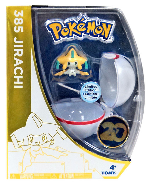 Pokemon 20th Anniversary Clip n Carry Pokeball Jirachi with Premier Ball Figure Set [20th Anniversary]