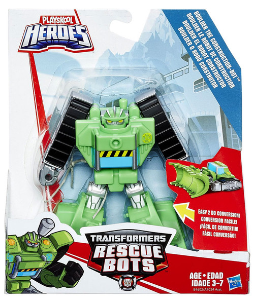 Transformers Playskool Heroes Rescue Bots Boulder the Construction Bot Action Figure [2016]