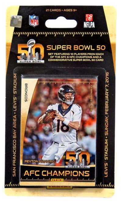 NFL 2016 Panini Football Cards Super Bowl 50 Trading Card Set