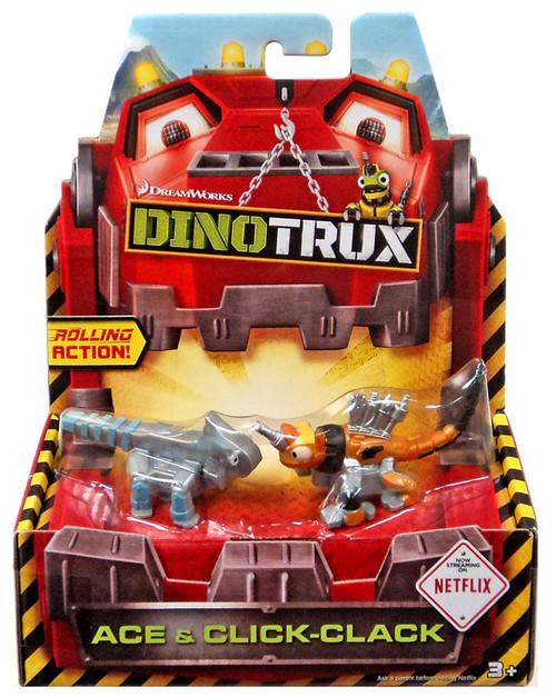 Dinotrux Ace & Click-Clack Diecast Figure 2-Pack