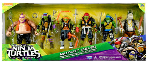 Teenage Mutant Ninja Turtles Out of the Shadows Bebop, Donatello, Michelangelo, Raphael, Leonardo & Rocksteady Exclusive Action Figure 6-Pack [Mutant Melee]