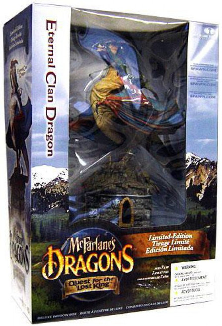 McFarlane Toys Dragons Quest for the Lost King Series 1 Eternal Clan Dragon Action Figure Set [Repaint, Damaged Package]