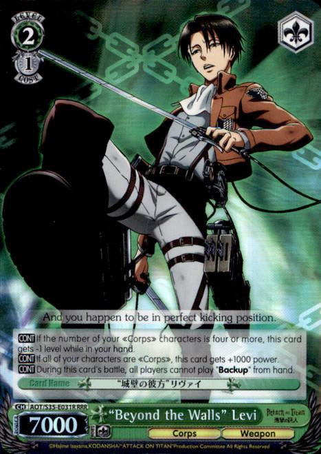 "Weiss Schwarz Attack on Titan Rare RRR ""Beyond the Walls"" Levi E031R"