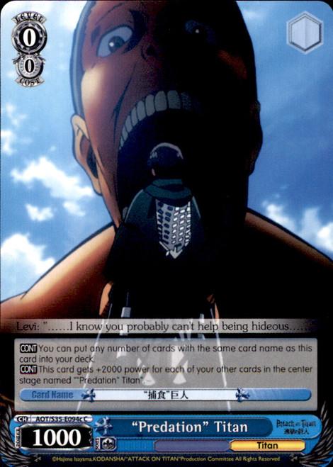 "Weiss Schwarz Attack on Titan Common ""Predation"" Titan E094c"