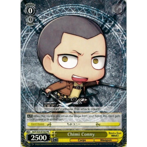 Weiss Schwarz Attack on Titan Promo Chimi Conny E102