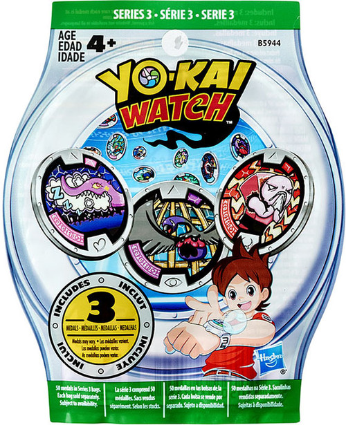 Yo-Kai Watch Series 3 YOKAI MEDALS Mystery Pack