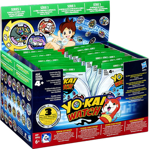 Yo-Kai Watch Series 3 YOKAI MEDALS Mystery Box [24 Packs]