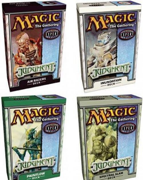 MtG Trading Card Game Judgment Set of 4 Theme Decks