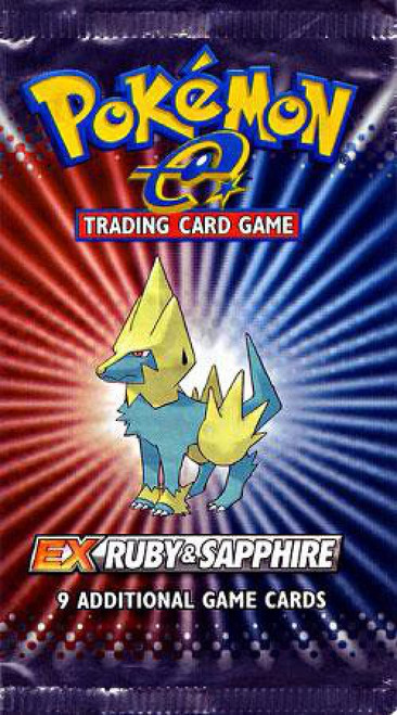 Pokemon Trading Card Game EX Ruby & Sapphire Booster Pack [9 Cards]