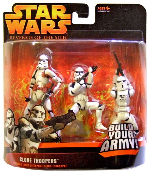 Star Wars Revenge of the Sith Clone Troopers Action Figure 3-Pack [Brown Trim]