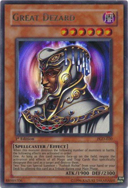 YuGiOh Pharaonic Guardian Ultra Rare Great Dezard PGD-020