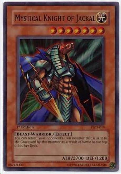 YuGiOh Pharaonic Guardian Ultra Rare Mystical Knight of Jackal PGD-069