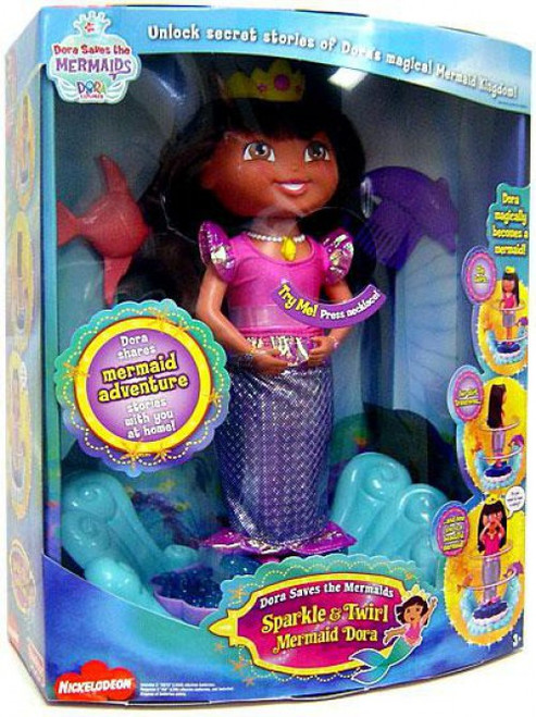 Fisher Price Dora the Explorer Sparkle & Twirl Mermaid Dora Doll