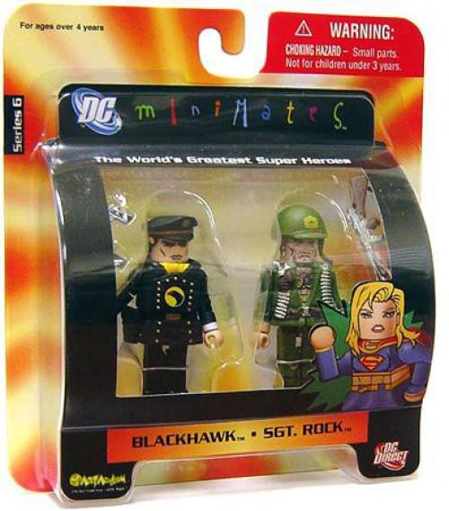 DC Minimates Series 6 Blackhawk & Sgt. Rock Minifigure 2-Pack