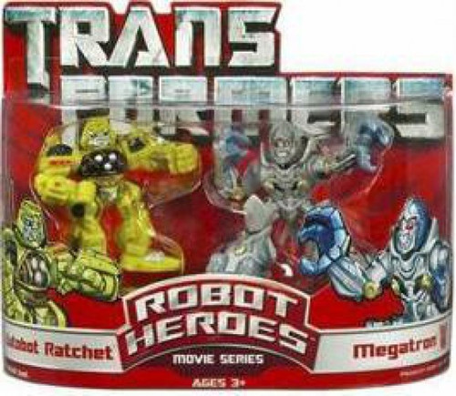 Transformers Movie Robot Heroes Movie Series Ratchet & Megatron Figure 2-Pack