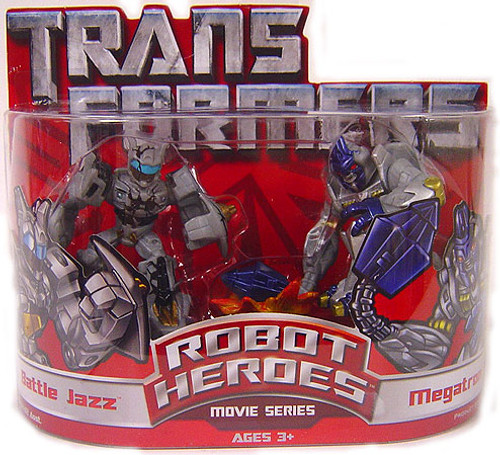 Transformers Robot Heroes Movie Series Battle Jazz & Megatron Action Figure 2-Pack