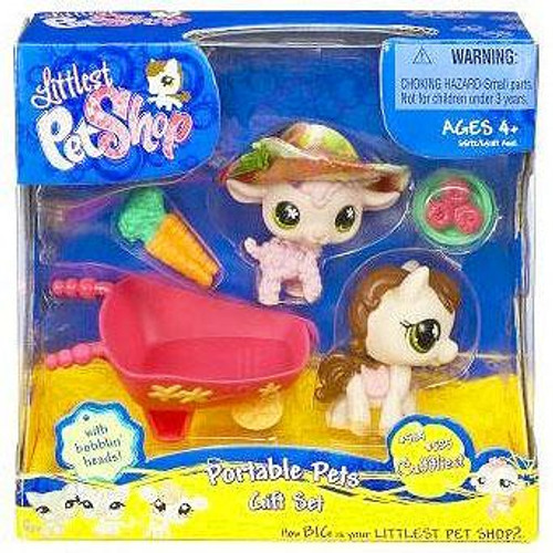 Littlest Pet Shop Cuddliest Pink Sheep & Horse Portable Gift Set