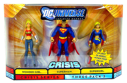 DC Universe Crisis Infinite Heroes Wonder Girl, Superman & Supergirl Action Figures #3