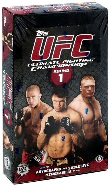 UFC Topps 2009 Round 1 Trading Card Box [16 Packs, 3 Autographs & 3 Relic Cards!]