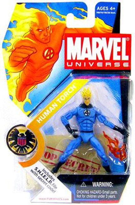 Marvel Universe Human Torch Action Figure #7 [Light Blue Outfit]