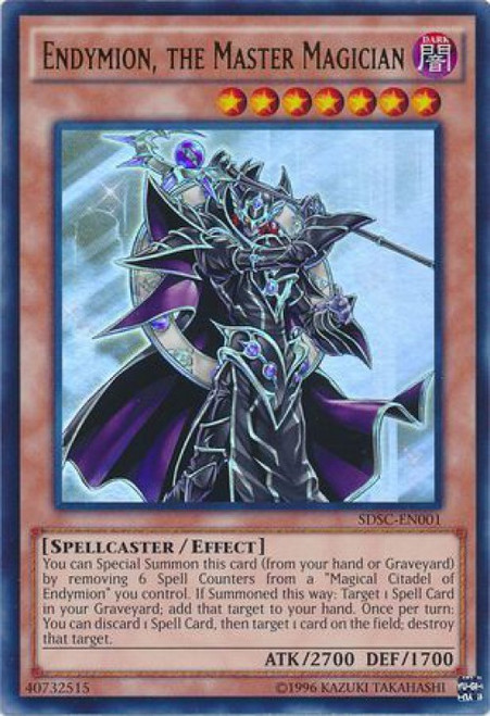 YuGiOh YuGiOh 5D's Structure Deck: Spellcaster's Command Ultra Rare Endymion, The Master Magician SDSC-EN001