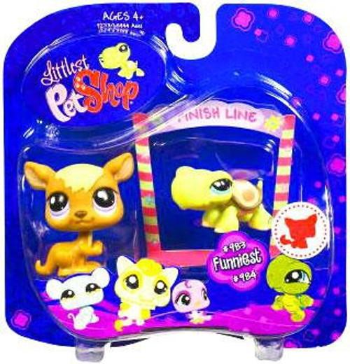 Littlest Pet Shop 2009 Assortment A Series 4 Kangaroo & Turtle Figure 2-Pack #983, 984 [Finish Line]