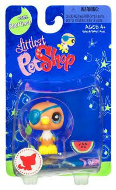 Littlest Pet Shop Parrot Figure #882 [Eye Patch & Watermelon]