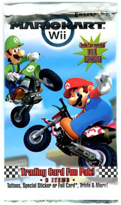 Super Mario Mario Kart Wii Trading Card Pack [8 Items Per Pack]