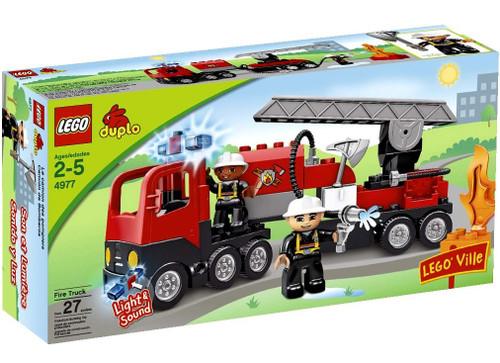 Duplo Lego Ville Fire Truck Set #4977