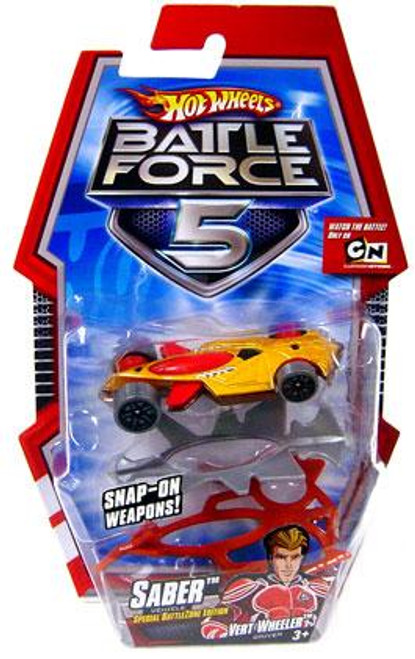 Hot Wheels Battle Force 5 Saber Diecast Car [With Armor, Special Battlezone Edition]