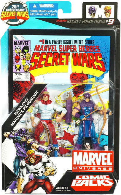 Marvel Universe Hawkeye & Marvel's Piledriver Action Figure 2-Pack #9