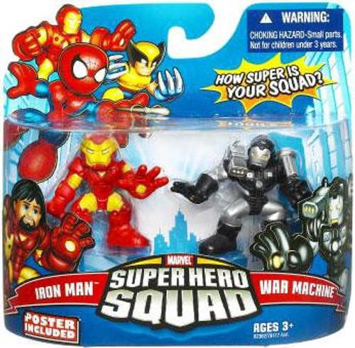 Marvel Super Hero Squad Series 16 Iron Man & War Machine 3-Inch Mini Figure 2-Pack