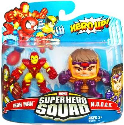Marvel Super Hero Squad Series 16 Iron Man & M.O.D.O.K. 3-Inch Mini Figure 2-Pack