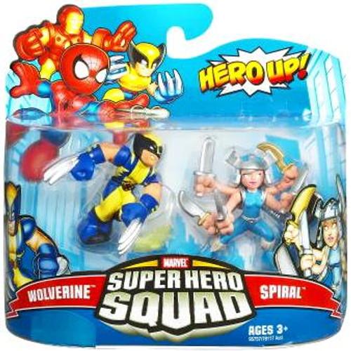 Marvel Super Hero Squad Series 16 Wolverine & Spiral 3-Inch Mini Figure 2-Pack