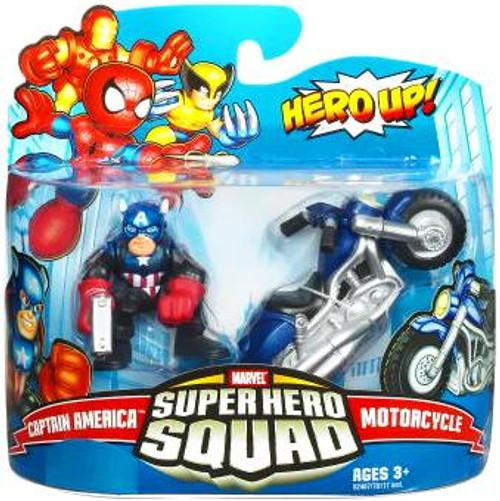 Marvel Super Hero Squad Series 17 Captain America & Motorcycle 3-Inch Mini Figure 2-Pack