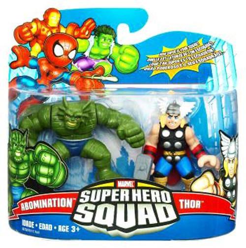 Marvel Super Hero Squad Series 17 Thor & Abomination 3-Inch Mini Figure 2-Pack