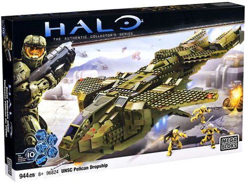 Mega Bloks Halo UNSC Pelican Dropship Set #96824