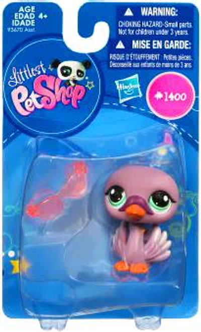 Littlest Pet Shop Swan Figure #1400 [Purple]