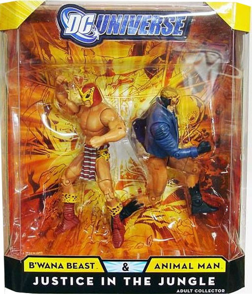 DC Universe B'Wana Beast & Animal Man Exclusive Action Figures
