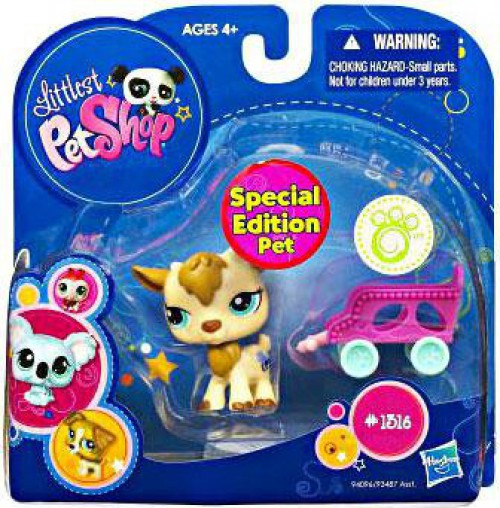 Littlest Pet Shop 2010 Assortment A Series 2 Goat Figure #1316 [Wagon]