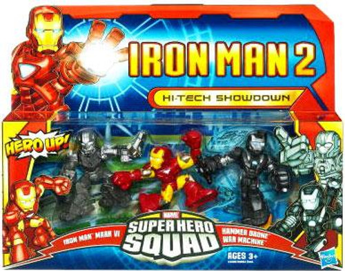 Iron Man 2 Superhero Squad Hi-Tech Showdown Action Figure 3-Pack