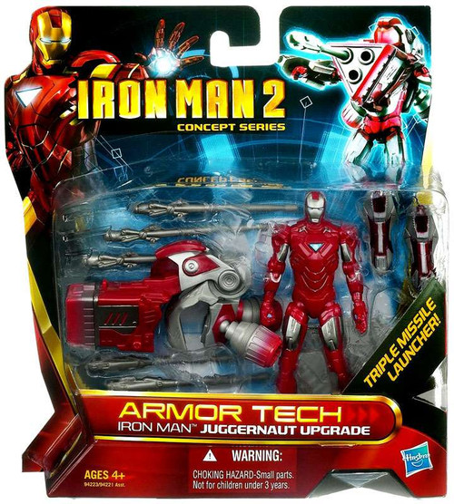 Iron Man 2 Concept Series Armor Tech Iron Man Juggernaut Upgrade Action Figure