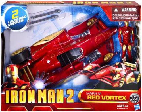 Iron Man 2 Mark VI Red Vortex Action Figure Vehicle
