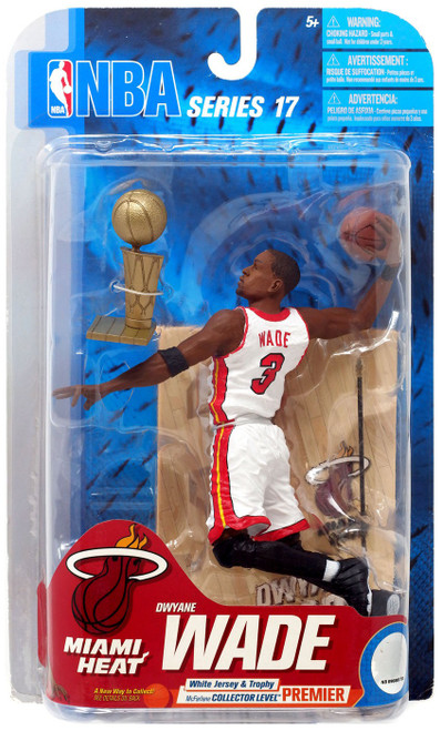 McFarlane Toys NBA Miami Heat Sports Picks Series 17 Dwyane Wade Action Figure [White Jersey & Trophy]