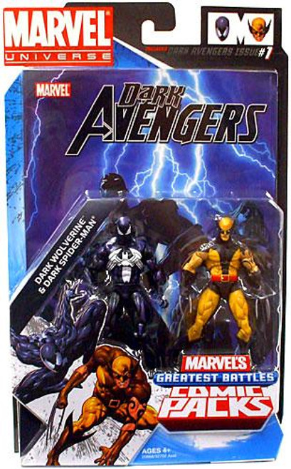 Marvel Universe Dark Wolverine & Dark Spider-Man Action Figure 2-Pack [Daken & Venom]